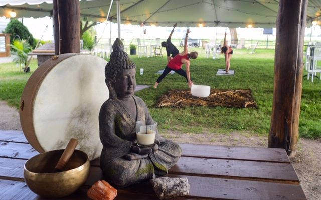 Outdoor Safe Distance Yoga Classes